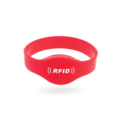 125kHz/13.56MHz Waterproof Rfid Silicone Wristband