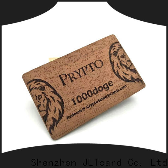 highly recommend wood business cards trader for ticketing