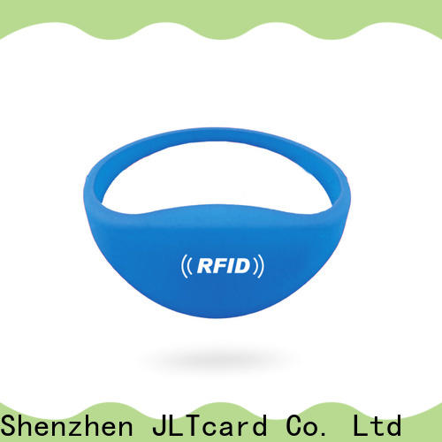 JLTcard hot sale rfid silicone wristband from China for hospitals