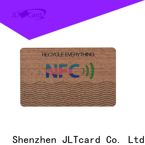 JLTcard custom wood business cards trader for contactless payments
