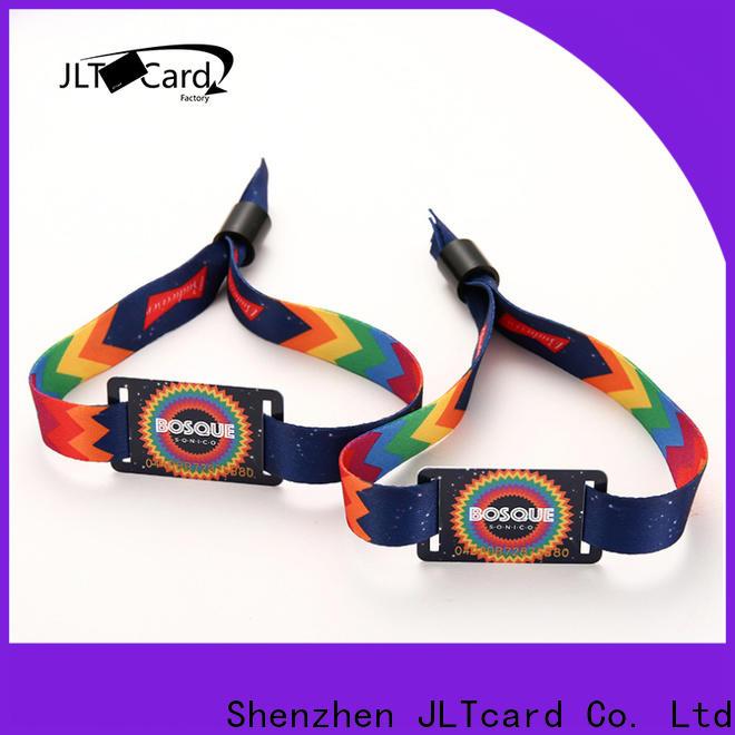 JLTcard custom rfid fabric wristband brand for importer