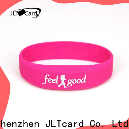 JLTcard custom silicone bracelets from China for events