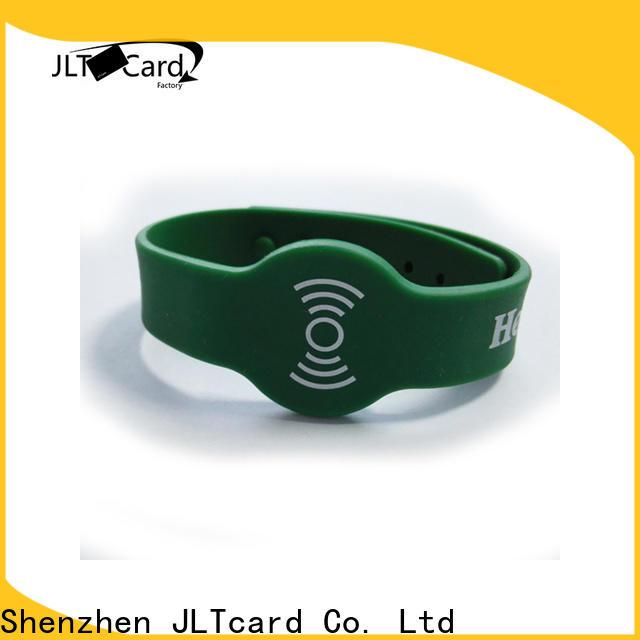 JLTcard hot sale custom silicone bracelets trader for hospitals