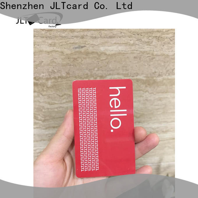 JLTcard blank pvc card brand for authentication