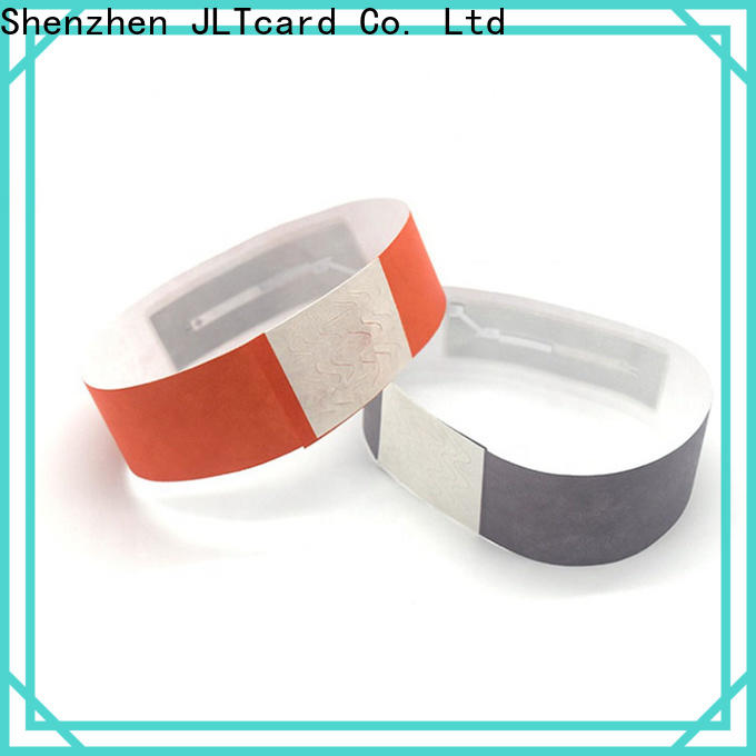 JLTcard rfid disposable wristband supplier for events