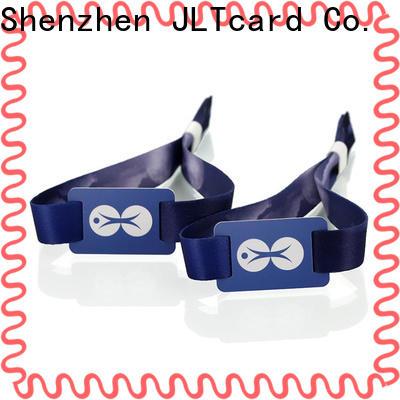 JLTcard custom rfid fabric wristband wholesale for importer