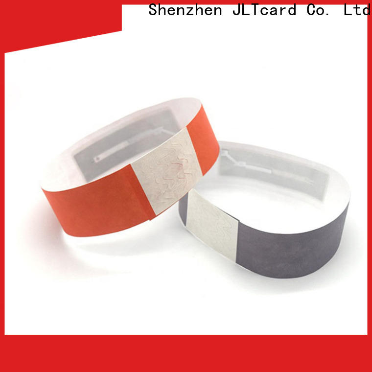JLTcard rfid disposable wristband supplier for hospitals