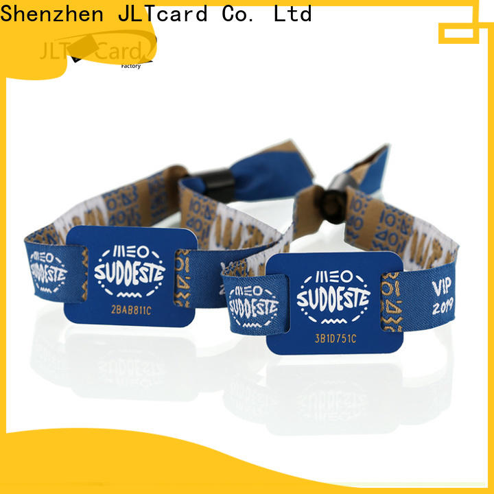 JLTcard reliable rfid fabric wristband factory for overseas market