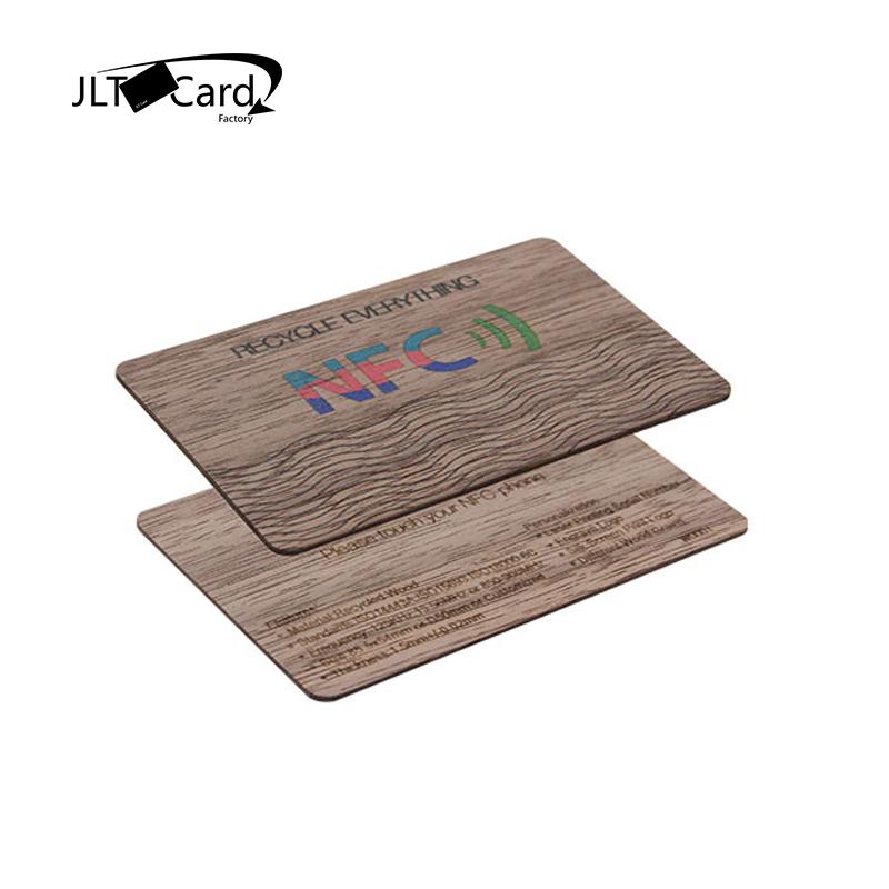 Eco-friendly  NTAG213/216 RFID  Black Walnut Wooden Key Card