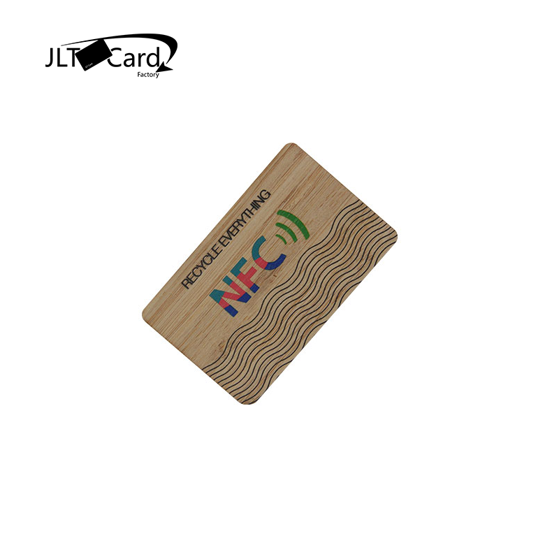 Mifare Ultralight C  NFC Magnetic Stripe Bamboo Wooden Card