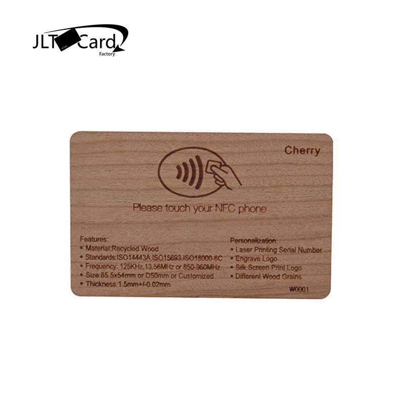 Orbita Hotel Cherry Wooden Rfid Key Card W/ Laser Logo Printing
