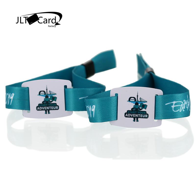 woven fabric Medical Printed MIFARE Ultralight C RFID wristband bracelet