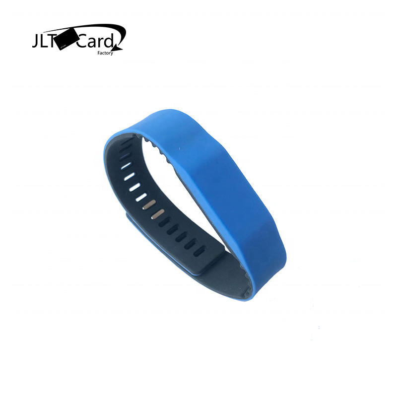 colorful MIFARE PLUS X 2K wristband rfid silicone13.56mhz MIFARE Desfire ev2 4K wristband rfid bracelet cashless payment