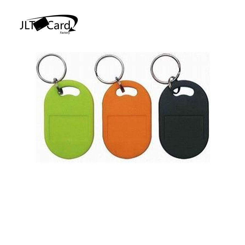 JLTcard access control system RFID MIFARE Classic EV1 1K key fob tags with rings hotel smart key cards