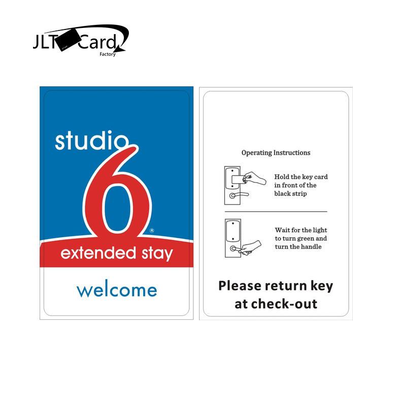 Access Control PVC RFID Hotel Key Card For Hilton/Marriot/Wyndham/Nova/Holiday Inn