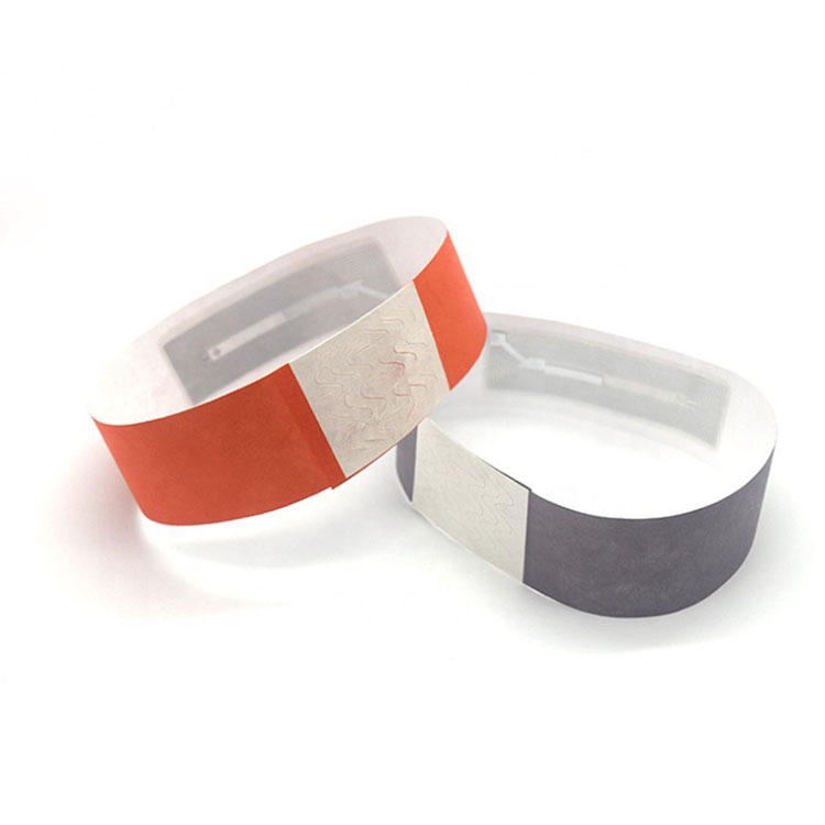 Customized 13.56mhz HF NFC Disposable Rfid Wristband for Sport Events