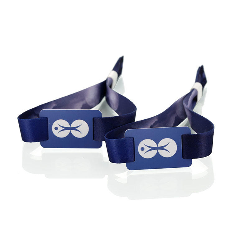 Cheap Custom RFID  Fabric Woven Wristbands for Events