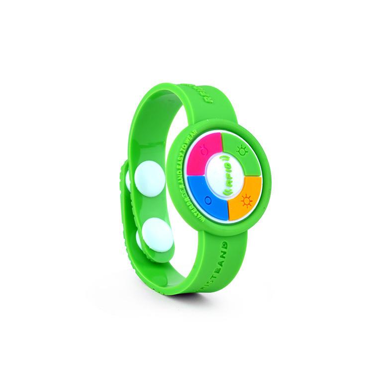 Customized NFC PVC RFID Bracelet Wristband for Access Control