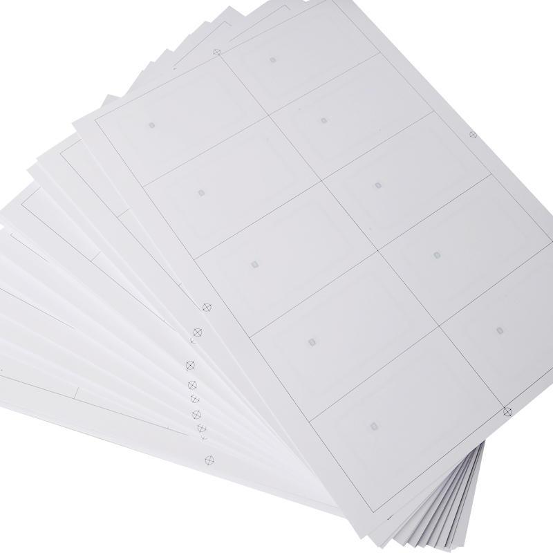 A4 Layout PVC 125khz Diy Rfid Tag Inlay Sheet Product
